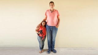 Gentle Giant: Brazil's Tallest Man Finds Love With Tiny Woman