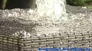 Slink-OL.de Springbrunnen Wasserspiel Edelstahlgewebe Ba-Cu Cube Kubus