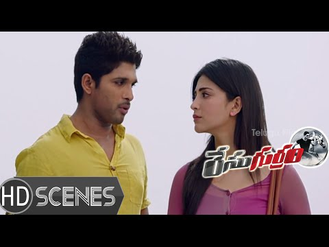 Shruti Hassan stuns Allu Arjun with her insane character - Race Gurram Comedy Scenes