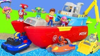 Paw Patrol Unboxing: Sea Patroller, Chase, Ryder, Rubble, Fireman Marshall & Skye Pups Rescue Toys