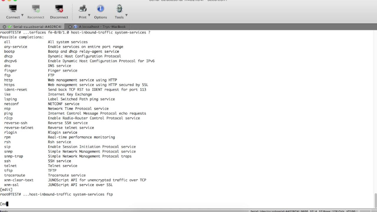 enable ssh, telnet, ftp on juniper 05