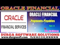 Oracle Finacial||online training||payments and payables Part-8 by SaiRam
