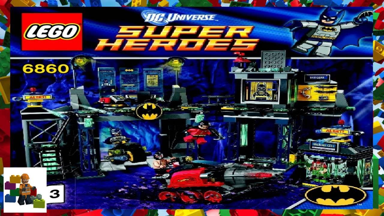 Lego Instructions Super Heroes 6860 The Batcave Book 3 Youtube