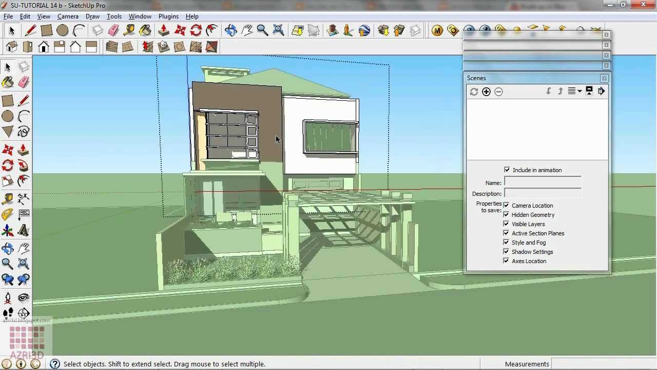 Google Sketchup Tutorial 14 Cool Section Animation Youtube