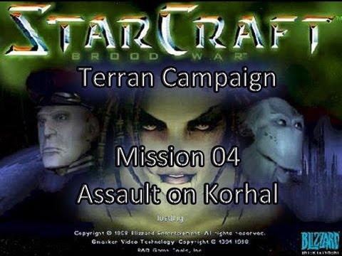 Let's Play Starcraft Brood War - Terran Mission 04: Assault on Korhal