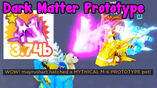 Made New Dark Matter Prototype Mythical Hatched Prototype - Pet Simulator X Roblox