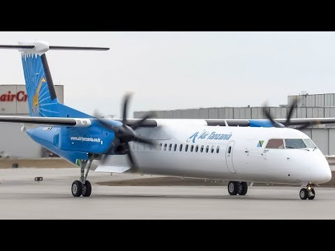 *Delivery Flight!!* Air Tanzania Bombardier Dash-8 Q400 (DH8D) departing Montreal (YUL/CYUL)