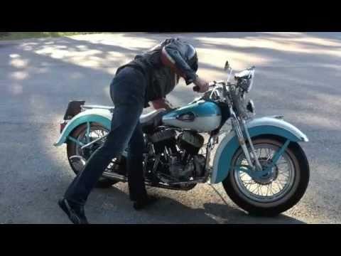 Harley WLC 1943 Flathead Starting