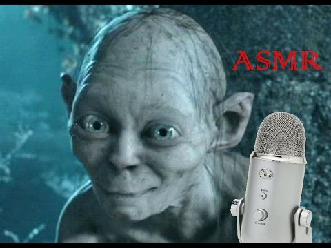 ASMR Whispering Gollum - Ear to ear, eating Swedish Fish and Snickers