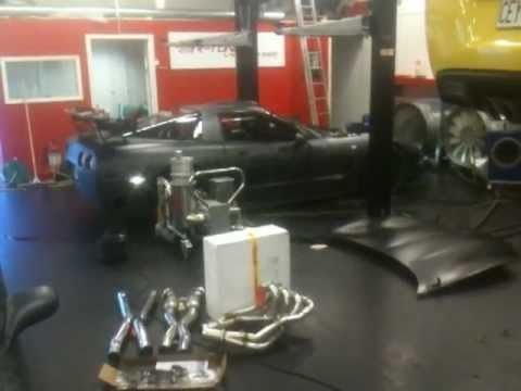 Dynotesting one of the Team Insane Racing Corvettes