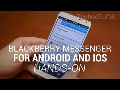 BBM For Android And IOS Hands-On