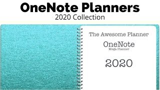 2020 OneNote Planners || #theawesomeplanner