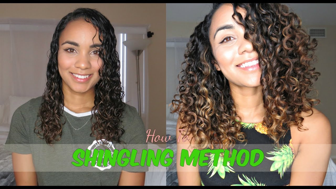 how to style 3a curly hair updated curly hair routine shingling method for defined 3056
