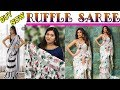 BUY NOW Ruffle/Frill Saree  ll Online Shop ll www.prititrendz.com