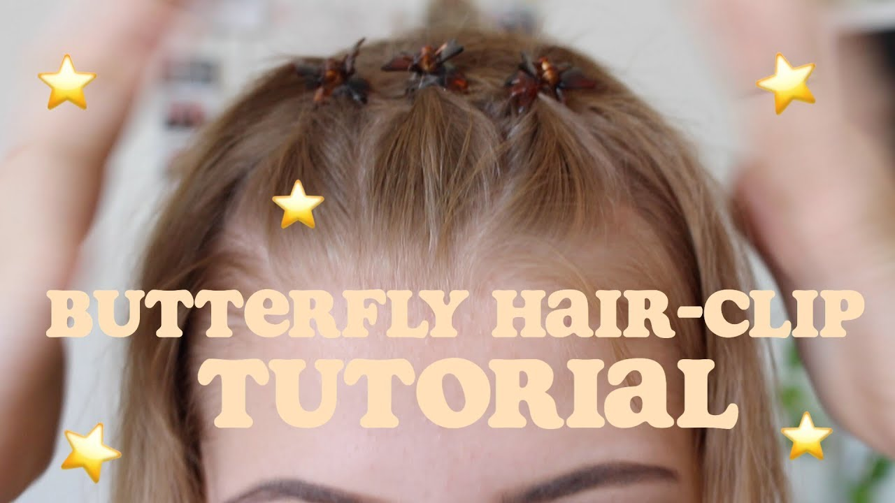 Erfly Hairclip Tutorial Easy 90s Early 2000s Hairstyle Lilkamila