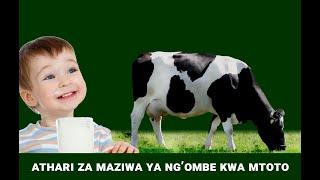 ATHARI ZA MAZIWA YA NG'OMBE KWA MTOTO.