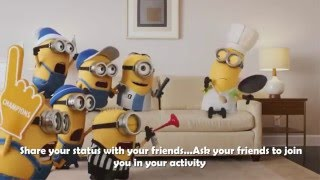 Wuhoo - Status Sharing App with Minions