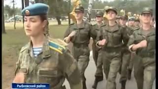 12 девушек пополнили ряды курсантов Рязанского училища ВДВ