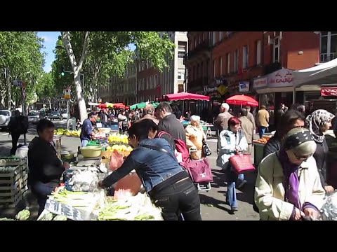 Boulevards market, Toulouse, France