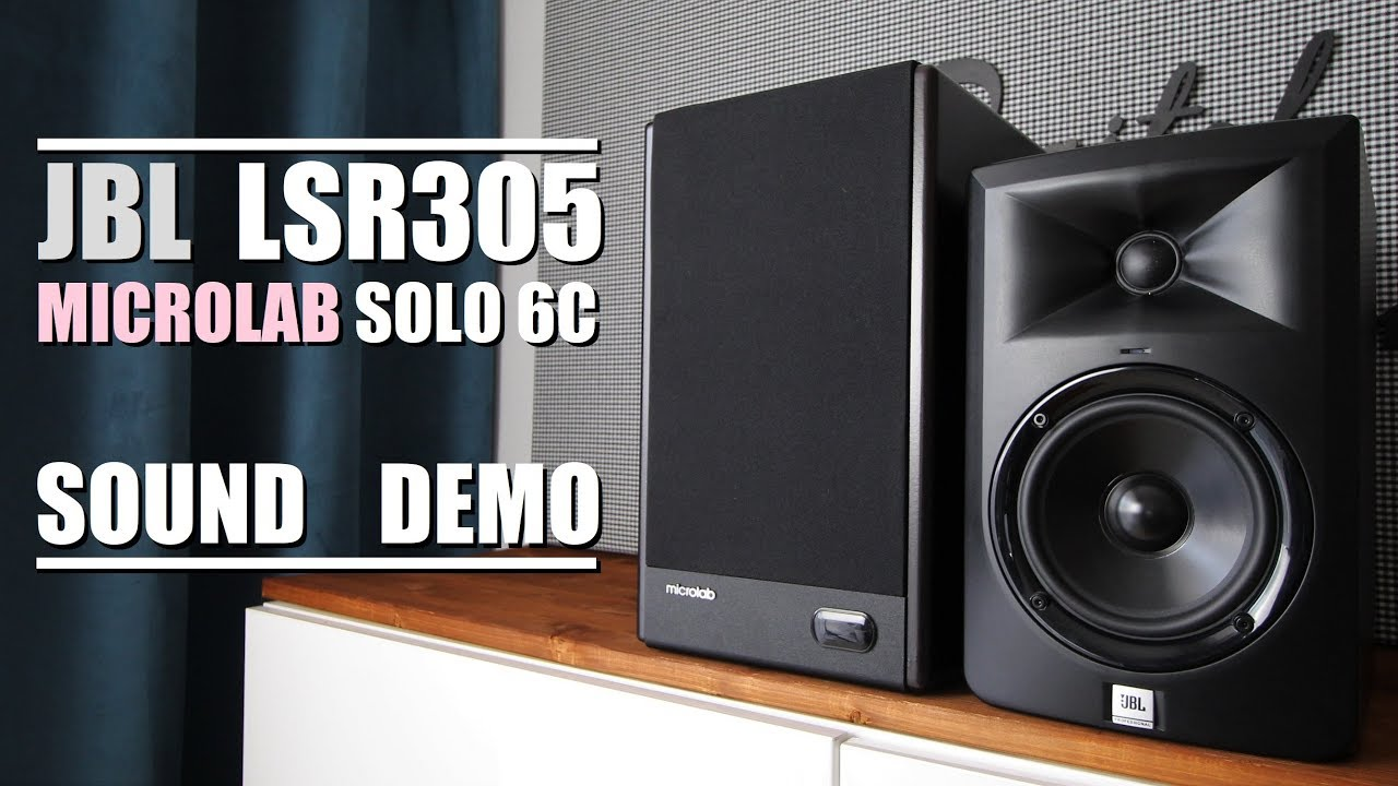 Microlab Solo 6C vs JBL LSR305  ||  Sound Demo w/ Bass Test