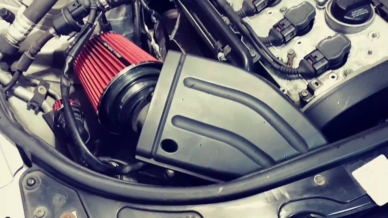 """AUDI A4 1.8T """"COLD AIR INTAKE"""" MOD """"SPECTRE PART # 8132 - YouTube"""