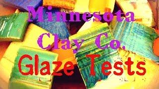Minnesota Clay Company Cone 6 Glaze Tests