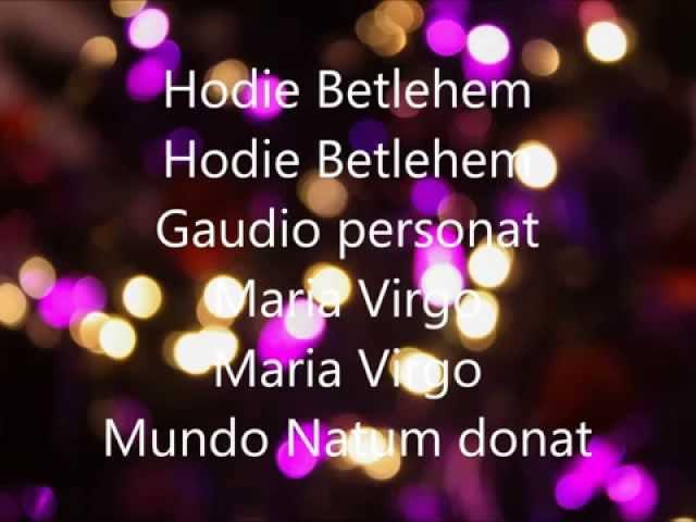 Hodie Betlehem   Polish Christmas Carol Sung in Latin