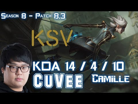 KSV CuVee CAMILLE vs KENNEN Top - Patch 8.3 KR Ranked