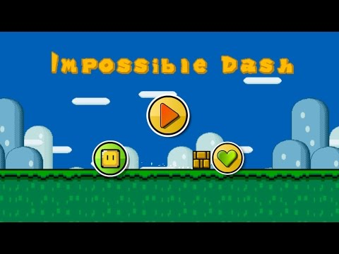 Geometry Dash Style Game : Impossible Dash / Mario Game (All Clear)