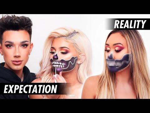 Attempting a James Charles x Kylie Jenner Halloween Makeup Tutorial