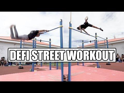 STREET WORKOUT : Duel de Tricks avec LES LOUPS DU STREET 💪 (Game of B.A.R.Z)
