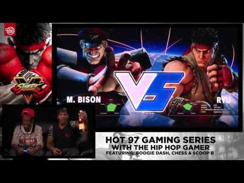 Hip Hop Gamer Battles Boogie Dash, Scoop B & Chess On Street Fighter 5 At Hot 97