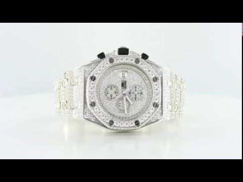 a02b6429aca02 Mens Fully Iced Out Elite Watch Stainless Steel - YouTube