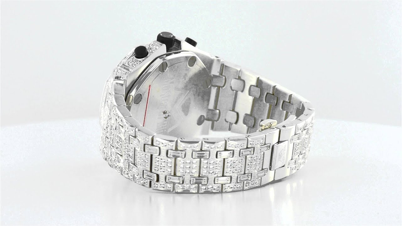 3aa91e5af3a57 Mens Fully Iced Out Elite Watch Stainless Steel
