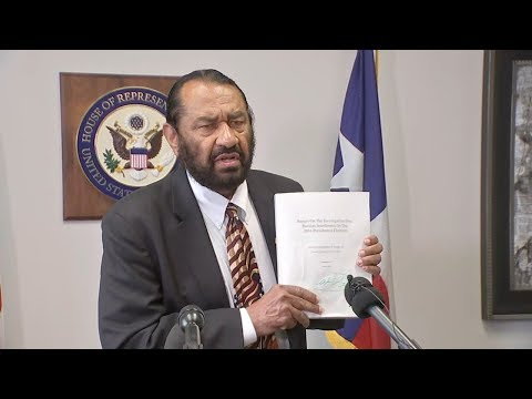 Congressman Al Green bringing vote to impeach President Trump to the House Houston Congressman Al Green announced he plans to bring a vote to impeach President Trump to the House of Representatives by the end of the month., From YouTubeVideos