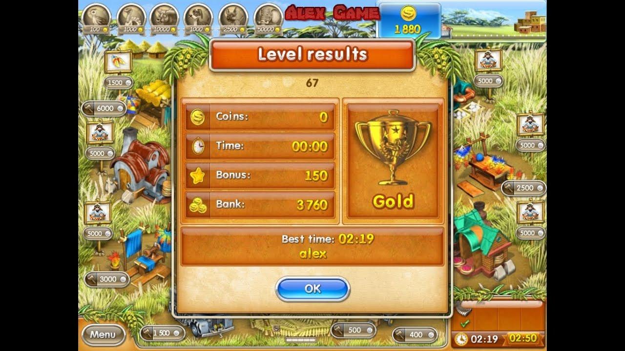 Farm Frenzy 3 Madagascar (level 67) only GOLD Веселая ферма 3 Мадагаскар  (Уровень 67) Золото