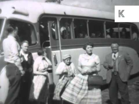 1950s North of England, Coach Trip, Holiday, UK Home Movie Archive Footage