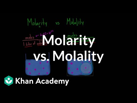 Molarity vs. molality | Lab values and concentrations | Health & Medicine | Khan Academy thumbnail