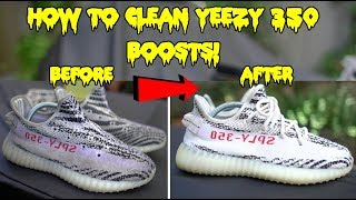HOW TO CLEAN YEEZY 350 BOOST TUTORIAL!!! (BEST RESULTS)