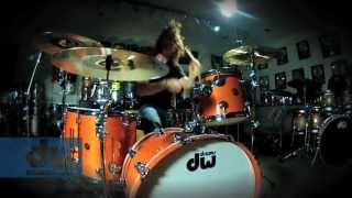 John Fred Young plays DW Drums (100% GoPro)