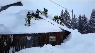 Extreme weather 2019 - Seriously heavy snow conditions (Europe) - BBC News - 10th January 2019