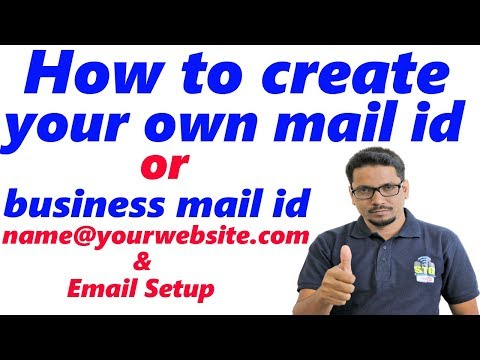 Hindi || How To Create A Custom Email Address At Your Domain Name (contact@yoursite.com)