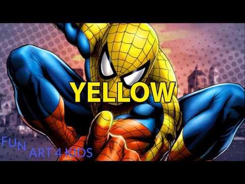 Comment Dessiner Et Colorier Spiderman Apprenez Couleurs