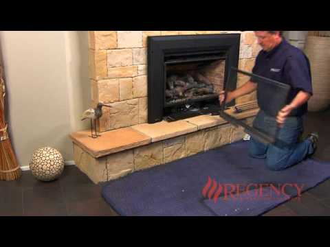 Cleaning The Glass On Fireplaces With Louvers Youtube