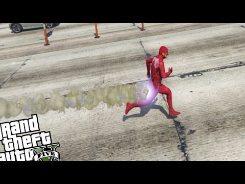 GTA 5 PC Mods - The Flash Mod (Flash Gameplay GTA-V)