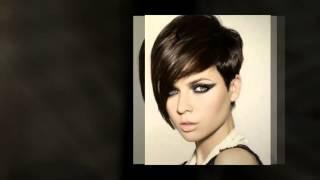 Короткая женская стрижка гарсон на средние волосы