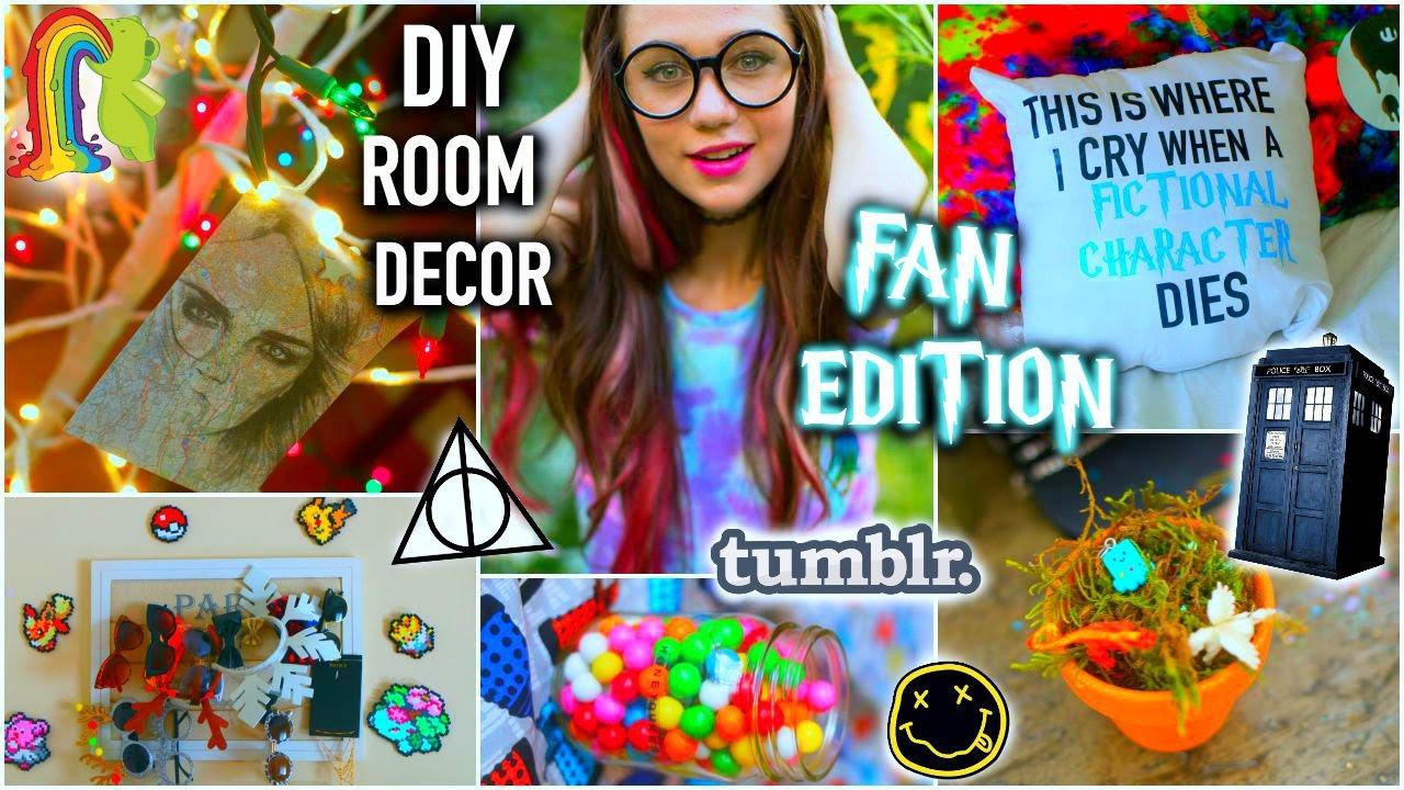 Diy room decor fan edition life hacks tumblr inspired for Room decor life hacks