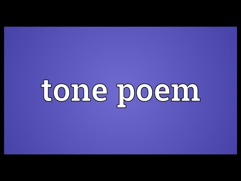 Tone poem Meaning