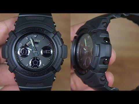 buy popular b2108 72198 CASIO G-SHOCK FULL BLACK AW-591BB-1A - UNBOXING