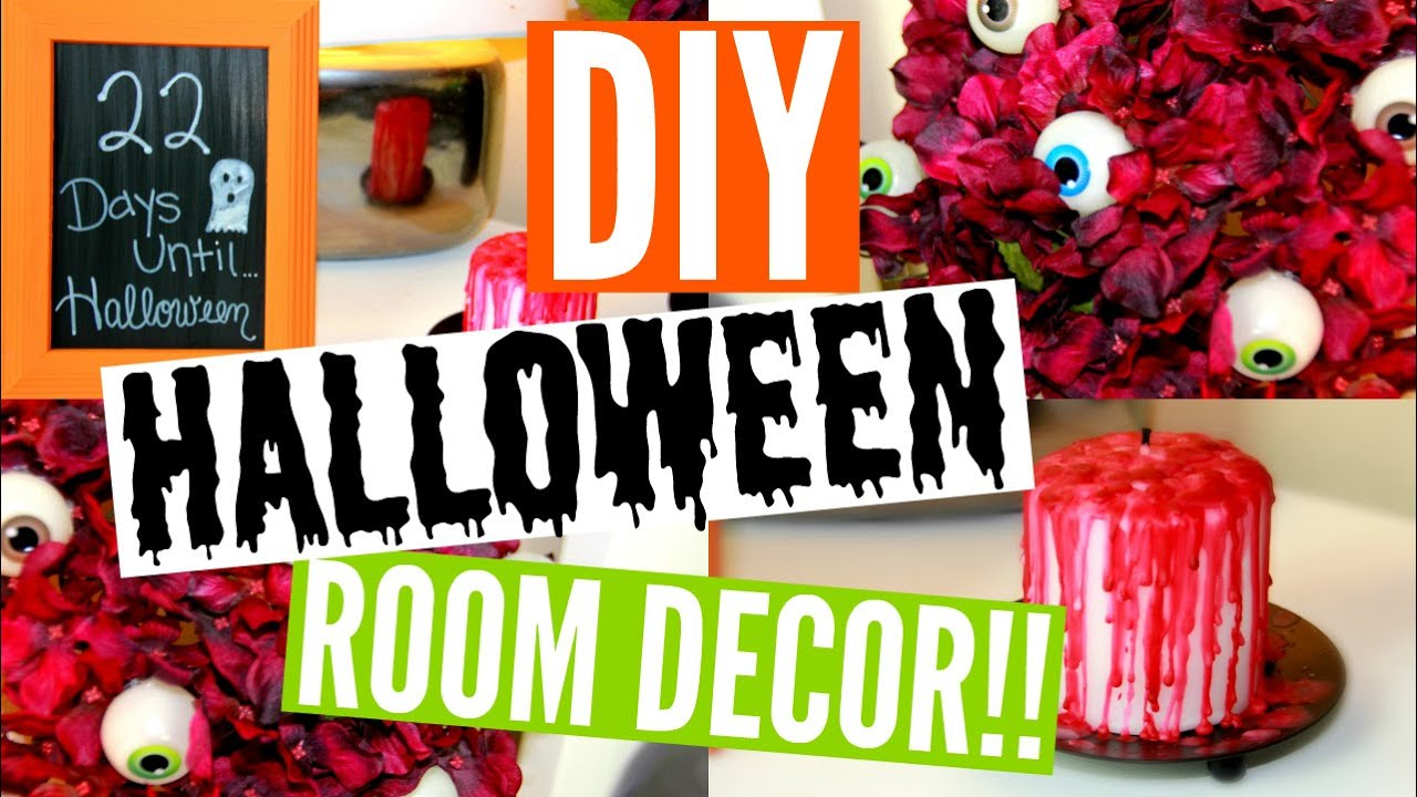 diy halloween room decor 3 easy affordable ideas epic fail youtube - Halloween Room Ideas